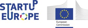 Logos StartUp Europe and European Commission