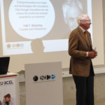 Mr Strascheg, founder of the SCE is welcoming all the participants in Munich